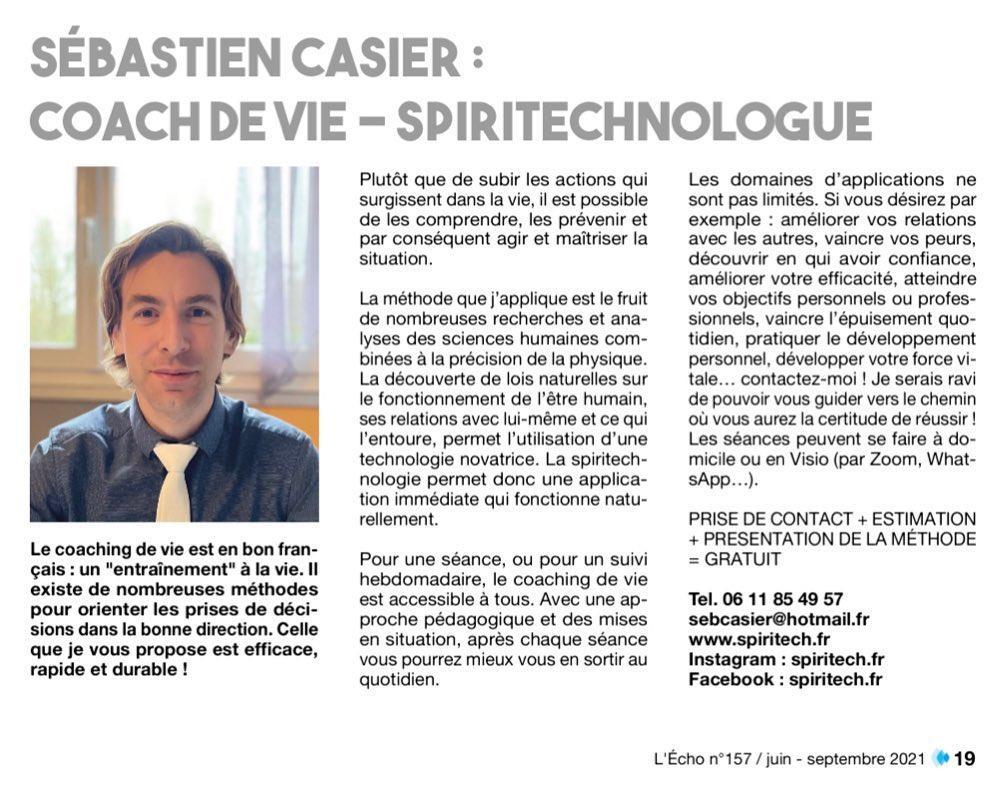 article coach spiritechnologue