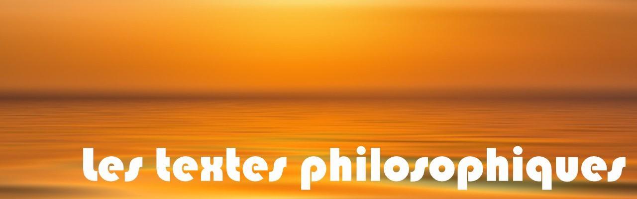 Les textes philosophiques